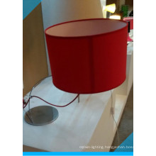 Newest Red Fabric Shade Bedside Table Lamp