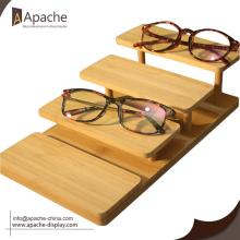 Custom Design Bamboo Counter Sunglasses Display Stand