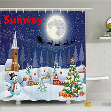Cheap Weihnachten Duschvorhang