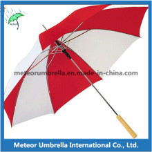 OEM Cheap Promotion Gift Stick Automatic Wooden Handle Umbrella