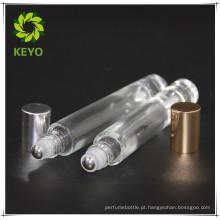 Vial shape glass 5ml 10ml rolo na garrafa para embalagem de óleo essencial cosméticos