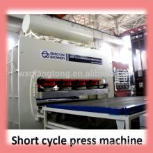mdf laminating machine/wood based panel machinery/hot press melamine laminating machine
