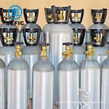 20 Liter seamless co2 aluminum cylinder bottle tank