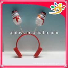 Christmas snowman decoration hairclips,small plastic snowman hairclip