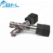 BFL-Wolframkarbid-Eckenradius 45 55HRC-Schaftfräser-Beschichtung