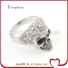 Stainless steel silver skull ring wholesale