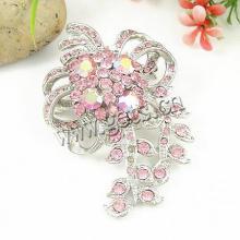 Gets.com zinc alloy rhinestone gold flower brooch