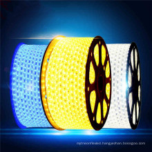 Good quality red/blue/green/warm white super brightness 220V 5050smd flexible tri-chip led strip Light