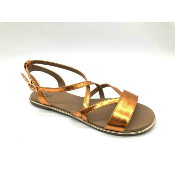 Lucas Frauen Metallic Pu Mode Sandale