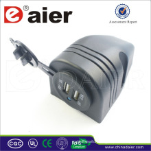 Double Port 12V Car USB Flush Mount Socket +Bracket One Hole+USB Cover+Stanradr Nut