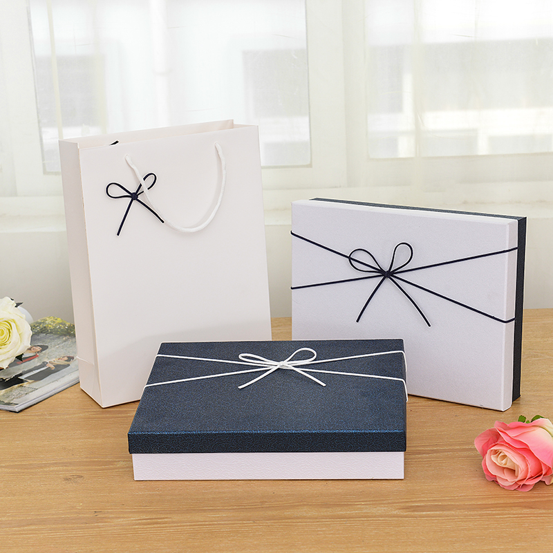 Delicate Rectangular Ivory Board Gift Packing Box