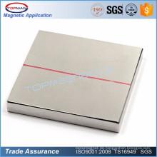 Hochwertige Seltene Erden starke NdFeB 50x50x2.5mm dünnen quadratischen Permanentmagneten