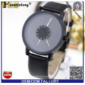 Yxl-718 Paidu Unisex Japan Quartz Watch Stainless Steel Case with PU Leather Band