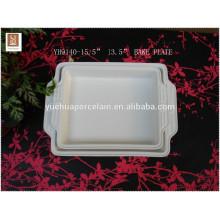 Prato de cozimento microonda do punho da microonda / placa cerâmica da torta