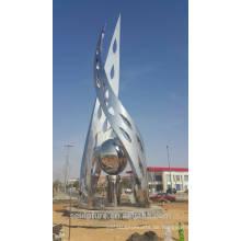 Saudi Arabien Kunst Oliven modernen Outdoor Garten Skulptur Spiegel Finish Shengfa