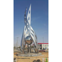 Saudi arabia art olive modern outdoor garden sculpture mirror finish shengfa