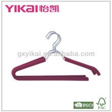 Set of 3pcs EVA foam coated metal shirt hangers with trousers bar