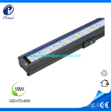 18W LED rígido de color led de luz lineal led impermeable