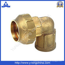 Hembra de rosca de latón de compresión de codos / Spanish Pipe Fitting (YD-6045)