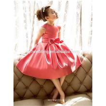 Neue koreanische Mädchen-Bogen-Kleid-Schaufel-Ansatz-Kappen-Hülsen-Kind-Prinzessin-Rock-Fabrik-direktes Kind-Blumen-Mädchen-Kleid D1