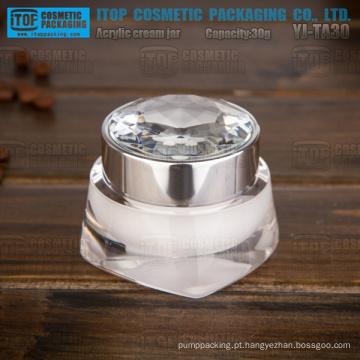 YJ-TA30 30g de puro e diamante de espessamento cap duplo camadas acrílico high-end boião de creme