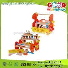 Hot Sale Popular Tool Bench Toy, brinquedo de madeira de madeira de crianças, brinquedo DIY Kids Bench