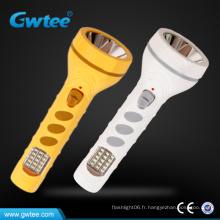 Mini lampe de poche rechargeable avec éclairage latéral