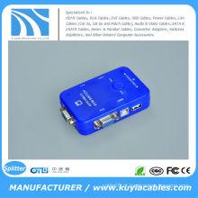 AUTO USB 2.0 KVM SWITCH CAIXA MONITOR VGA 2 PORTA