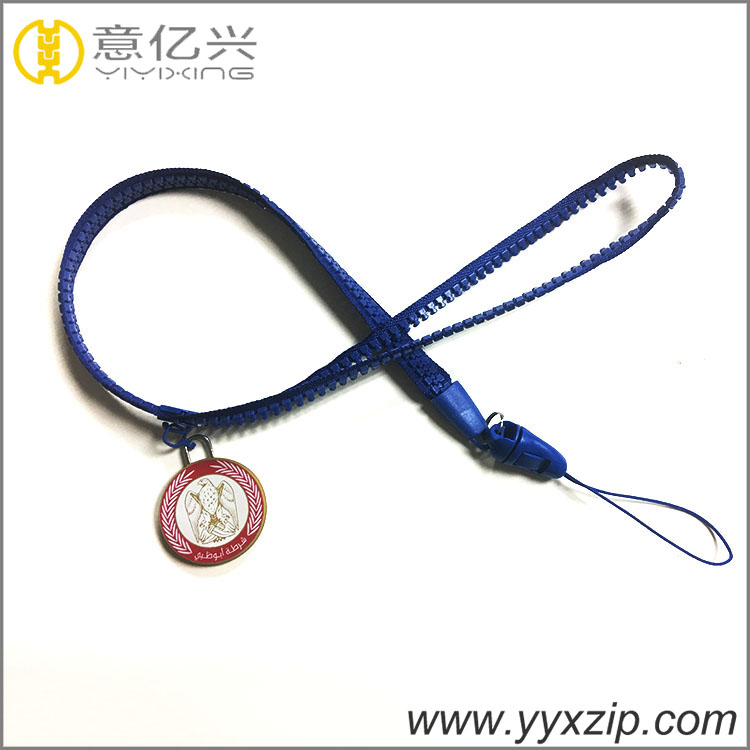custom zip lanyard