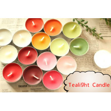 Varie candele colorate Tealight con stoppino in cotone 100%