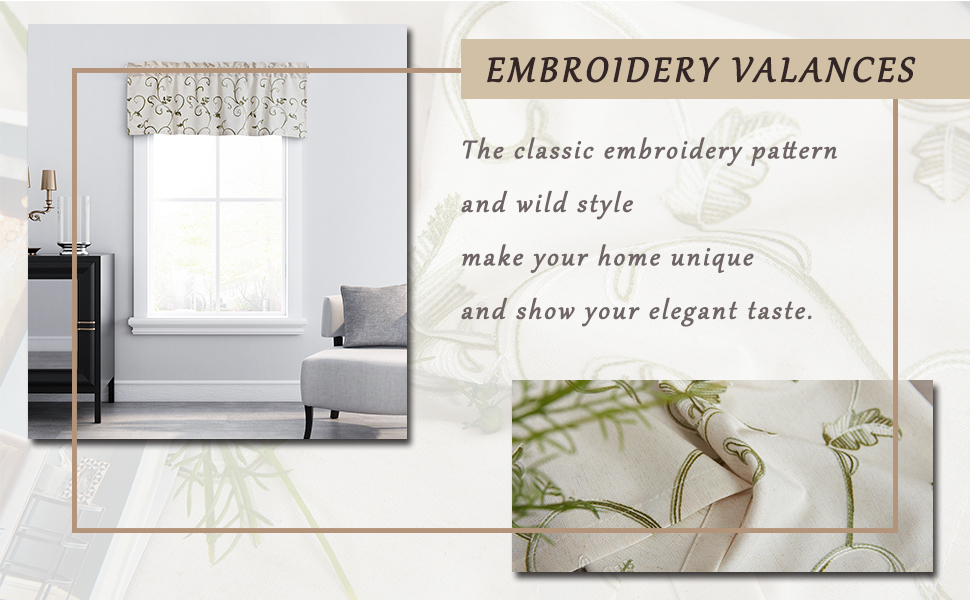 Embroidery Valances