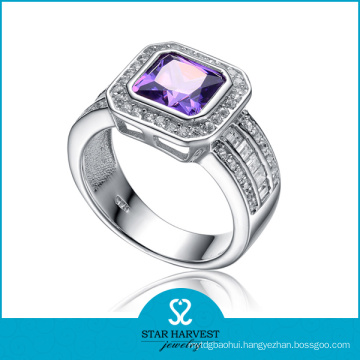 Polished Natural Stone Costume Jewelry Ring (SH-R0122)
