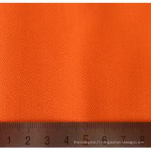 Tissus en sergé de coton Polyester orange