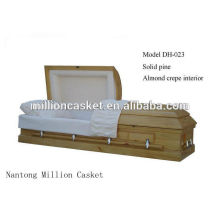 DH-023 solid pine casket private plans fashion modeling