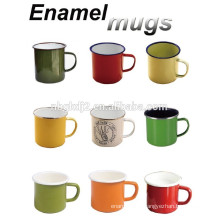 promotional customized enamelware cup with OEM design and high quality