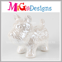 Ceramic Plain Dog in Gift Box Piggy Bank