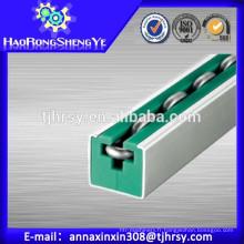 Rouleau rond Guide de chaîne avec couleur verte