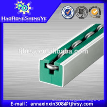 Round roller Chain guides with green color