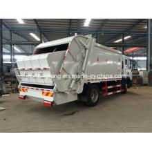 China Euro 3 12 Rodas 6X4 Camião coletor de lixo (18 metros cúbicos)