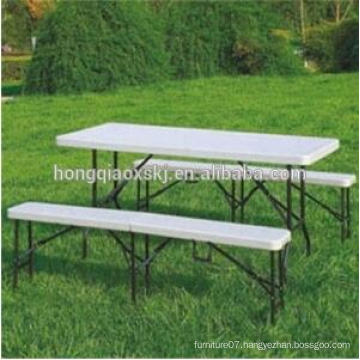 6FT HDPE Folding Park Bench Patio Bench