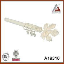 A19310 maple dejar forma de metal cortina rod finial, la barra de cortina decorativa conjunto