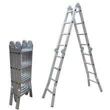 hot sale shrinked packed 16 ft aluminum portable home step ladder