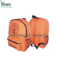 600d Orange Backpack Bag (YSBP-007)