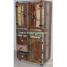 Madera vieja reciclada Drwaer Estilo del refrigerador del gabinete