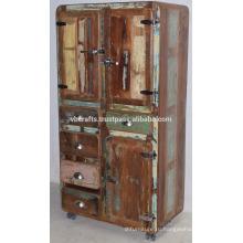 Переработаны Старые Деревянные Drwaer Стиль Шкафа Холодильник