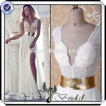 BRD1248 Heavy Beading Split Leg See Through Corset Sexy Casual Beach Wedding Dresses 2014