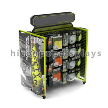 Movable Metal Advertising Equipment Floorstanding 4-Caster Showroom Display Stands For Glove