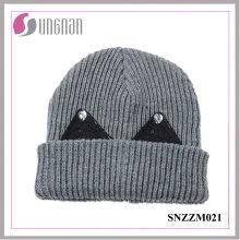 Melhor Design Inverno Quente Gorro De Lã Grossa Doce Rhinestone Ear Knit Hat