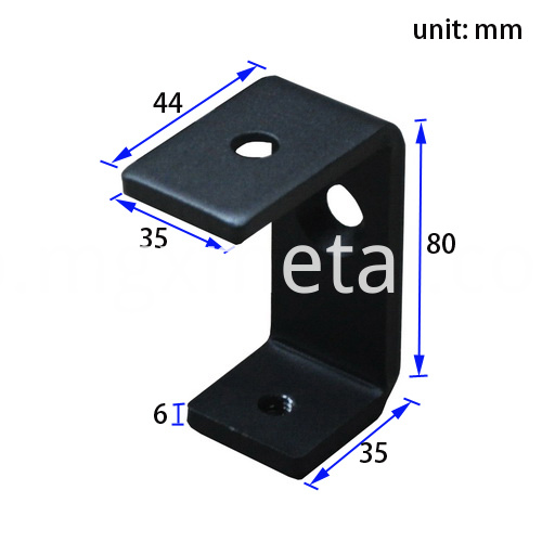 Stc0001 6mm Thick Table Clamp Dimension