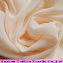 Chiffon tecido tingido sólido do poliéster para a tela do vestido